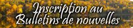 Inscriptions au Bulletins de nouvelles TerraVie